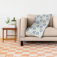 Acrylic Blue Pattern Circles Throw Blanket by Doucette Designs