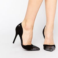 Blink Toecap Cut Out Heeled Shoes
