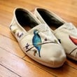 Custom TOMS Shoes  Birds and Wildflowers All Over by shandke