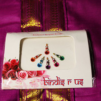 Round Star Bindi and  Forehead Jewelry Decorations & Forehead Makeup Decor.