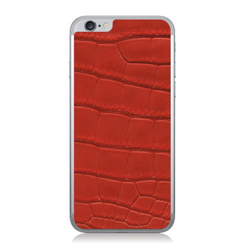 Red American Alligator iPhone 6 Leather Back
