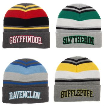 Harry Potter House Striped Beanies