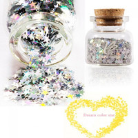 ZERO NANA Dreamy Star Type Sequins Nail Art Decoration Colorful - Default