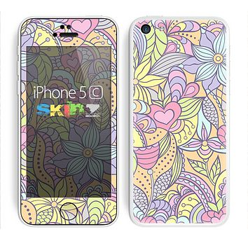 The Vibrant Color Floral Pattern Skin for the Apple iPhone 5c