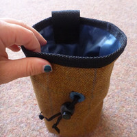 Tweed Chalk Bag for Climbing.