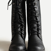 On the Base Military Lace Up Boot in Black - $40.00 : ThreadSence, Women's Indie & Bohemian Clothing, Dresses, & Accessories