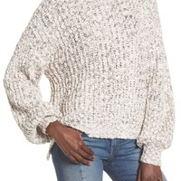 Woven Heart Chunky Knit Mock Neck Sweater | Nordstrom