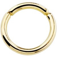 Kiwi Diamond Solid 14kt Yellow Gold Segment Rings 18G - 10G