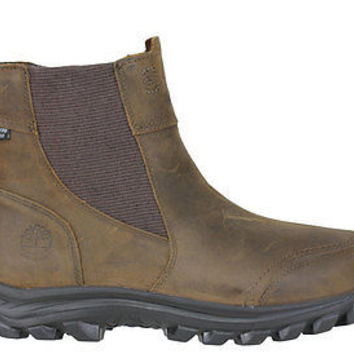Timberland Mens EK Chilberg Pull On Boots WP Insulated Dk Brown 7860A