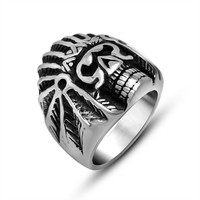 Shiny New Arrival Stylish Gift Jewelry Accessory Vintage Strong Character Punk A4 Size Ring [6544854851]