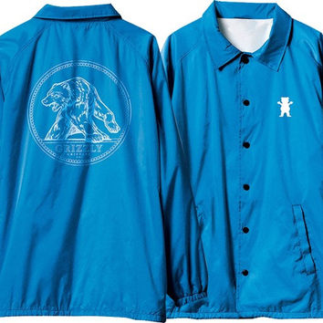 Grizzly Arena Coaches Jacket Large Royal