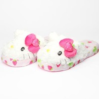 Hello Kitty Adult Slippers: Strawberry