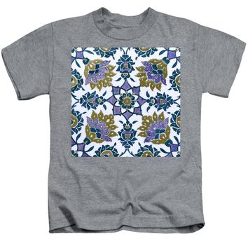 An Ottoman Iznik Style Floral Design Pottery Polychrome, By Adam Asar, No 13f - Kids T-Shirt