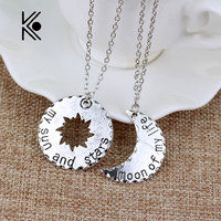 Free Shipping His&Hers Khal/Khaleesi Necklace Game Of Thrones Necklace Moon Of My Life,My Sun&Stars Pendant Necklace For Lovers
