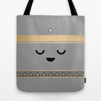 Little Tipi / Face Pillow Tote Bag by Elisabeth Fredriksson