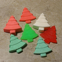 Christmas Tree Soaps - Stocking Stuffer Gift - Holiday Soap - Christmas Decorations - Christmas Soap Favors - Stocking Filler - Co Worker