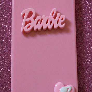 Barbie Pastel Baby Pink  iPhone 5 Diamante Case Cover