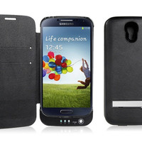 3800mAh External Backup Battery Case for Samsung Galaxy S4/i9500 (Black)