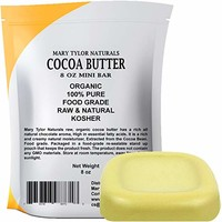 Cocoa Butter Large 8 oz Bar by Mary Tylor Naturals, Raw Unrefined, Non-Deodorized