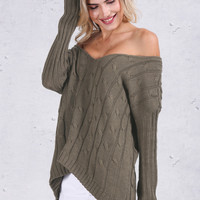 Backless Knitted Sweater