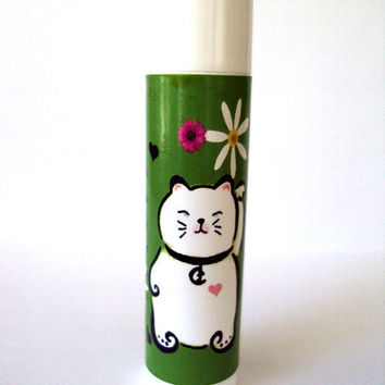 Natural Chapstick Kokeshi Cat Spearmint Flavor