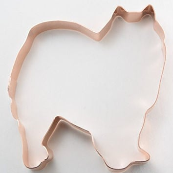 American Eskimo Dog Copper Cookie Cutter