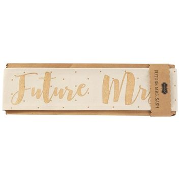 Mud Pie® Future Mrs. Wedding Sash