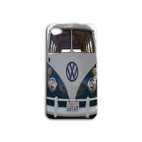 Cute Blue VW Bus Custom Cool Case iPhone iPod New Cover Car Van Funny Retro 60s