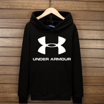 Trendy Under Armour Print Casual Loose Sport Sweater Pullover Hoodies