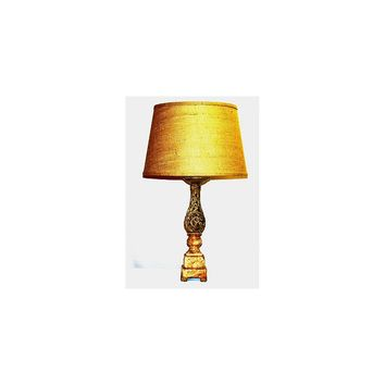 Lamp Factory Openwork Column 30'' H Table Lamp with Empire Shade