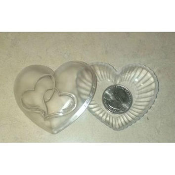 """Valentine's Day 2.5"""" Clear Heart Container"""