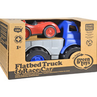 Flatbed Truck with Red Racecar