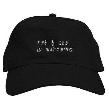 Drake 6 God Text Dad Hat