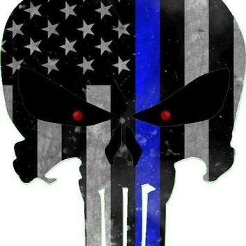 I've got your 6 - Thin Blue Line - Honor Your Police -Punisher Decal