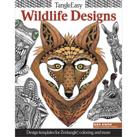 Tangle Easy Wildlife Designs Adult Coloring Book