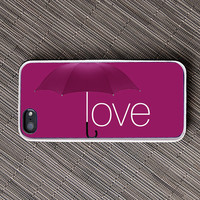 Love and an Umbrella iPhone Case - unique iphone cases, purple, rain, purple rain