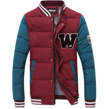College Baseball Jackets Jaqueta Baseball Jackets for University Men 2016 Cotton Varsity Jacket Men 5 Colors S-XL