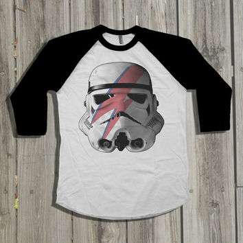 Star Wars shirt. Men's T-Shirt. David Bowie shirt. Mens Starwars  shirt. Storm Trooper tshirt. Darth Vader. Ziggy Stardust.