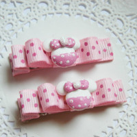 Minnie Mouse Pink Hair Clips Baby Bows for Babies Girls Teens and Adults Kawaii Fashion