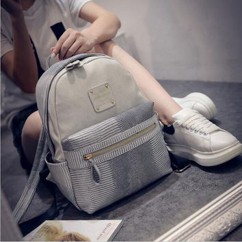New Fashion Women's Backpack pu Leather Backpack Girl's Schoolbag High Quality Ladies  Designer Women's Backpack