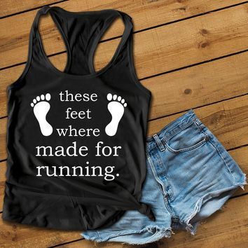 These feet Women's Ideal Racerback Tank