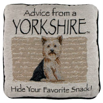 Advice From a Dog Yorkshire Terrier Throw Pillow