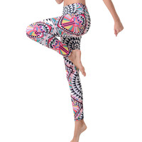3D Printed Women Professional Hippie Yoga Compression Pants