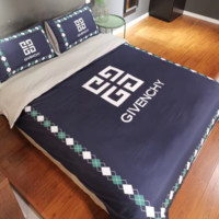 GIVENCHY 4 PC Bedding Set Conditioning Throw Blanket Quilt For Bedroom Living Rooms Sofa