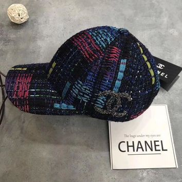 PEAPON Chanel Crochet Embroidered Baseball  Cap Hat
