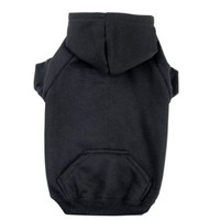 Zack & Zoey Polyester/Cotton Basic Dog Hoodie, Small, 12-Inch, Jet Black:Amazon:Pet Supplies