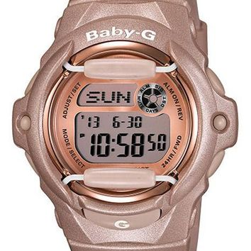 Casio Baby-G Whale Watch - Champagne Pink Design - Resin Strap