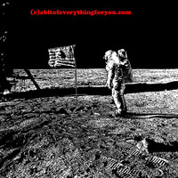 astronaut american flag on the moon printable abstract art print space art download digital astronomy image graphics black and white artwork