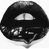 Ink Lips Art Print by Markia J.