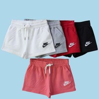 Nike pants are loose cotton casual trousers female shorts